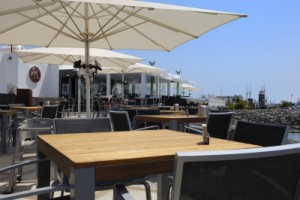 A seafront restaurant in the Marina Rubicaon area of Playa Blanca, Lanzarote