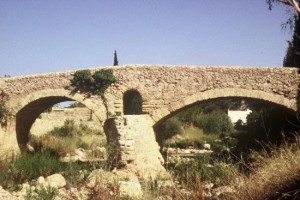 bridge left by the Romans when the conquered Mallora in 123BC