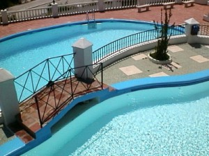villa with shared pool in nerja